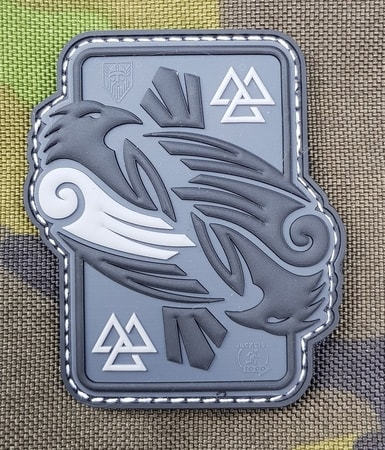 Huginn and Muninn, 3D rubber patch