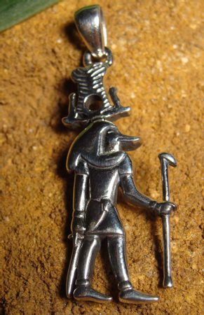 SEBEK, the Egyptian God, silver pendant