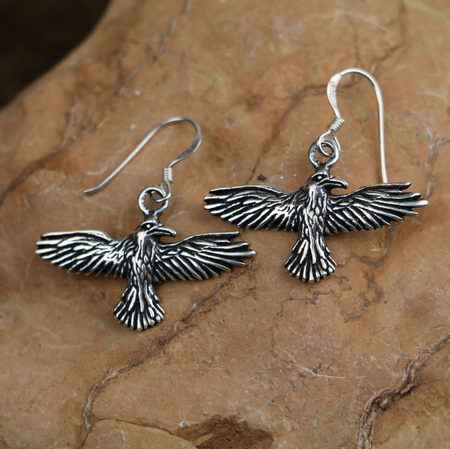 RAVENS SILVER EARRINGS