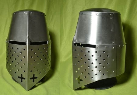 EUROPEAN GREAT HELM 1,5 mm thick steel