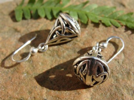 KNOTTED CONE, silver earrings, Ag 925
