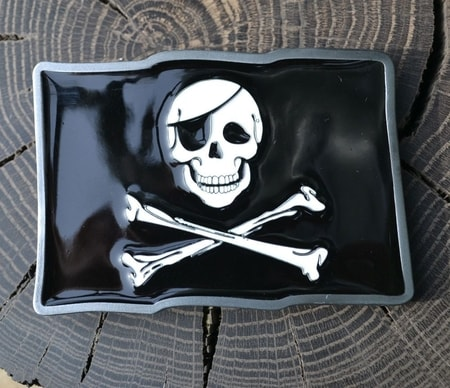 PIRATE FLAG, belt buckle