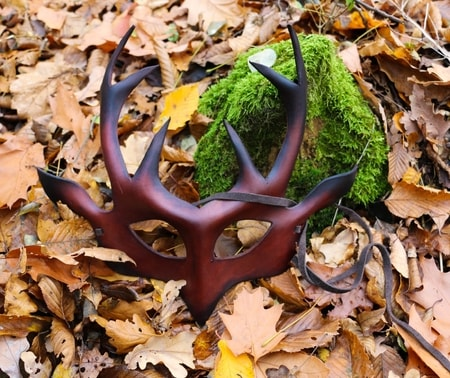HERNE - DEER, SHAMAN LEATHER MASK