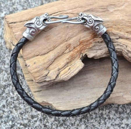 WOLF FENRIR, leather bangle