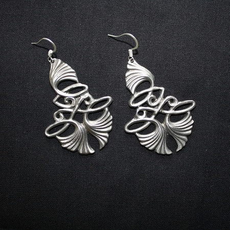 ART NOUVEAU TIN EARRINGS