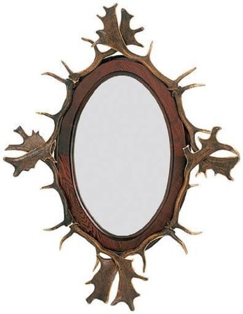 ANTLER MIRROR, WILDLIFE DESIGN WHOLESALE EXPORT USA and CANADA EUROPE