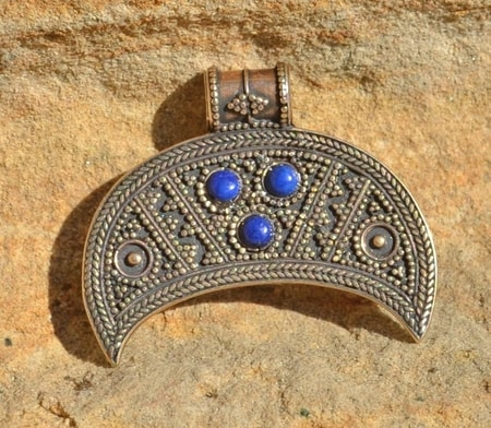 Slavic Pagan Jewel - LUNITSA, bronze