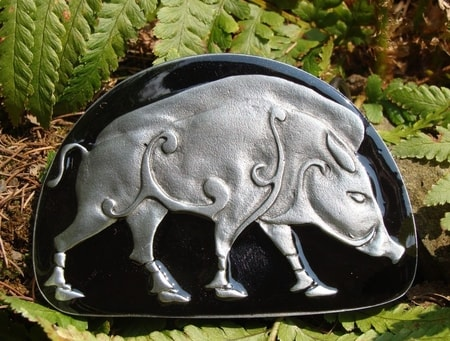 PICTISH BOAR, belt buckle