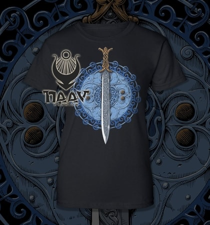 Claíomh Solais - Sword of Light, women's T-shirt - blue