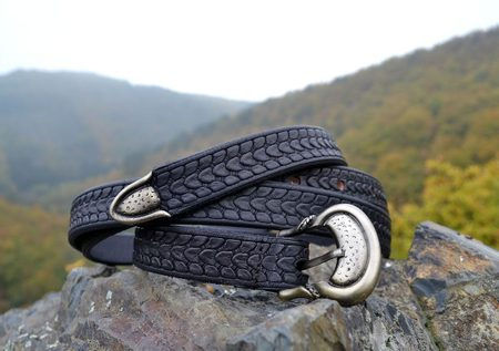 REPTILE, leather belt