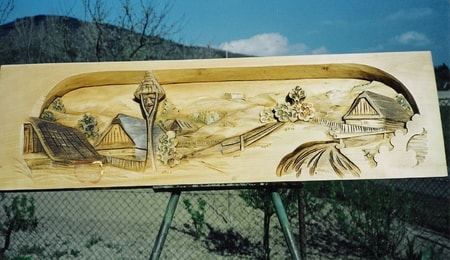 BESKYDY MOUNTAIN VILLAGE, wide wooden wall decoration - wulflund.com