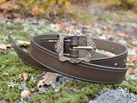 RENAISSANCE LEATHER BELT, brown