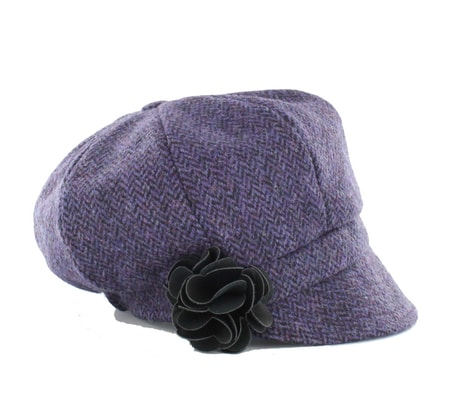 NEWSBOY CAP - Purple, wool, Ireland