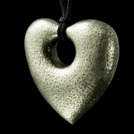HEART, pewter pendant, amulet