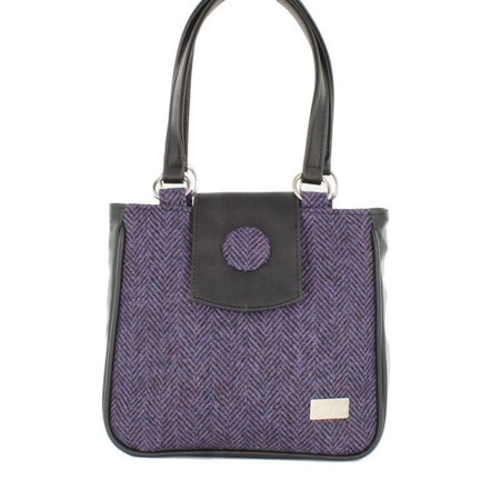 CIARA BAG - PURPLE HERRINGBONE