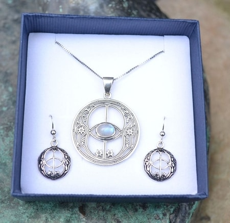 CHALICE WELL, sterling silver jewelry set