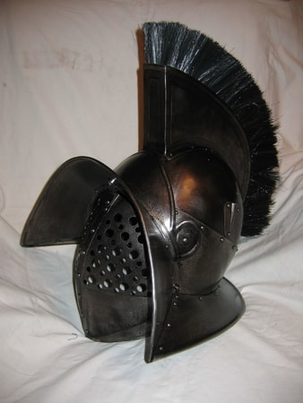 Gladiator Murmillo Helmet with Crest