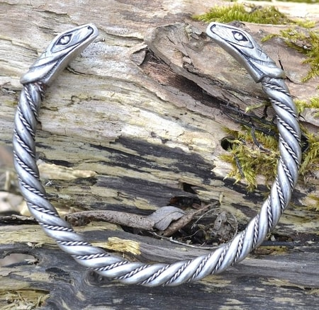 SERPENT, bracelet, silver plated tin