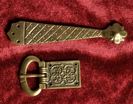 MEDIEVAL BELT SET - buckle and starp end