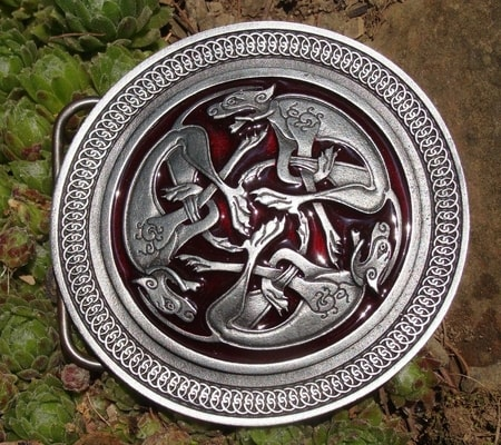 Celtic Hounds From Book Of Kells Belt Buckle Wulflund Com