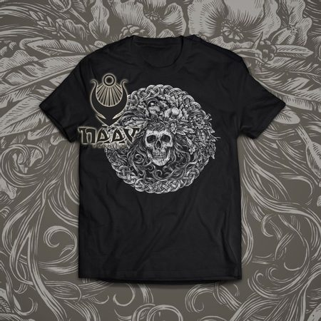 LADY DEATH, men's T-shirt black, Druid collection