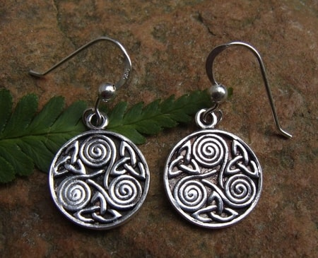SPIRALS OF DRUIDS, silver earrings, Ag 925