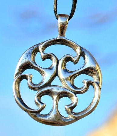 CELTIC KNOT OF LIFE, REPLICA, I. CENTURY, GALLIA?, SILVER 925, 11 G