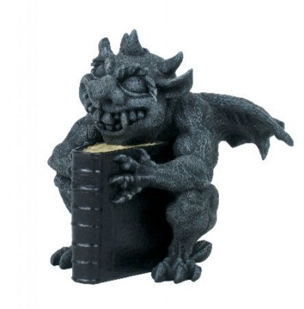 GARGOYLE WITH A BOOK, statue