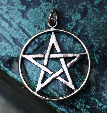PENTACLE - Pentagram, pendant, bronze