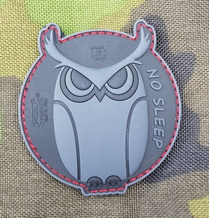 OWL - NO SLEEP, 3D rubber patch