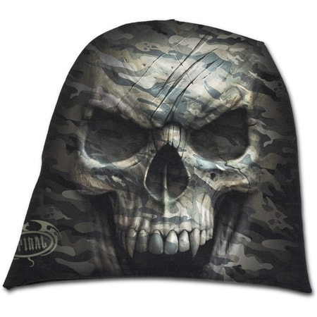 CAMO-SKULL - Light Cotton Beanies Black