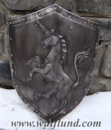UNICORN, hand made shield