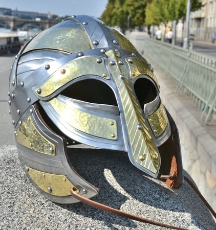 ARNGRIM, viking helmet with cheek-guards