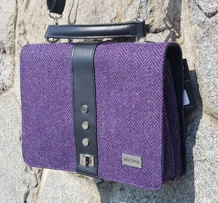 FIONA Shoulder Bag, purple, wool