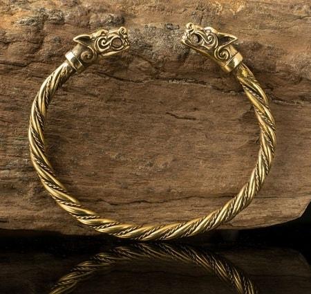 Viking Wolf Bracelet Fenrir Bronze