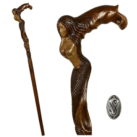 MERMAID - Walking Stick, Cane
