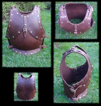 Medieval Leather Armour, Breastplate, larp steel armor, cuirass