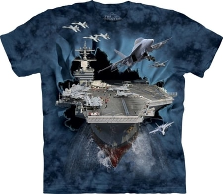Aircraft Carrier Breakthrough Military T-Shirt the Mountain