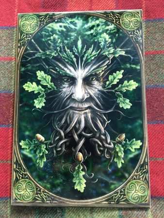 GREEN MAN, DECORATION TILE