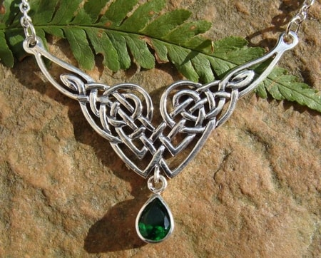 LADY AVALON, green, silver necklace, Ag 925
