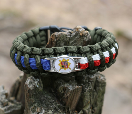 PARACORD ARMBAND, SOLDAT - TSCHECHISCHE ARMEE