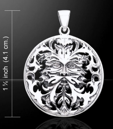 The GREENMAN FACE, silver pendant Ag 925