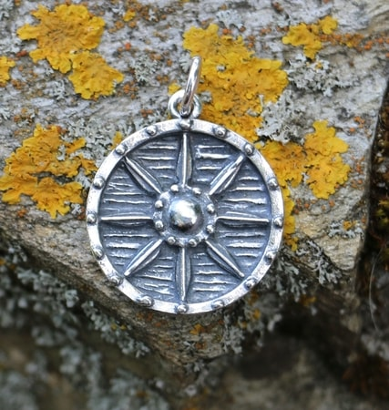 VIKING SHIELD, pendant, silver
