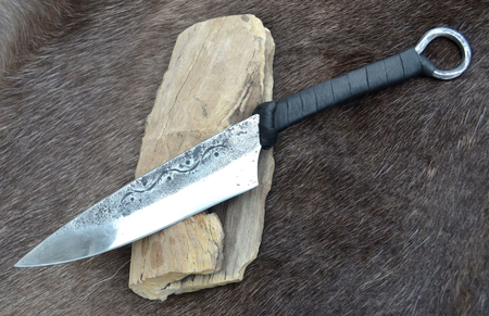CRUACHAN, CELTIC HAND FORGED KNIFE