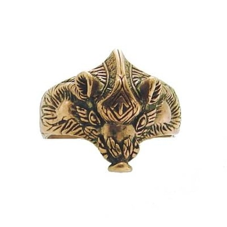 VIKING BOAR WITH TIWAZ RUNE, BRONZE RING