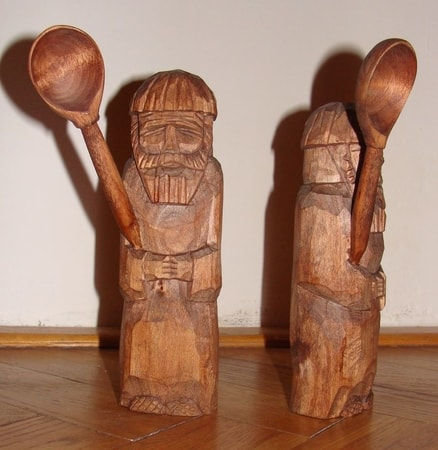 DOMOVOI WITH SPOON, Household Slavic Deity of Wealth