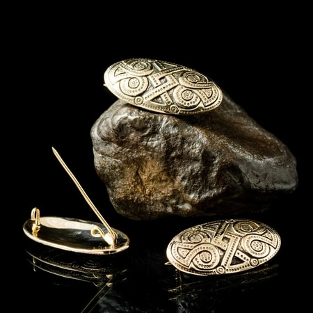 Oval Viking Brooch, bronze