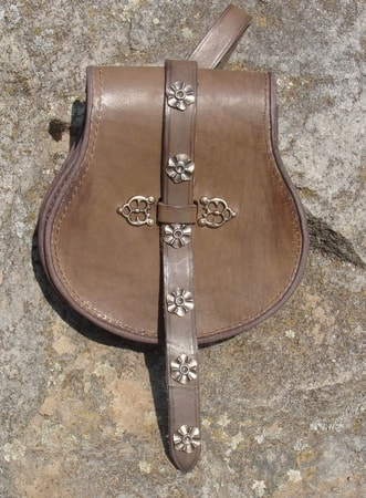 LEATHER SLAVIC or HUNGARIAN BELT BAG
