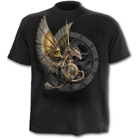 STEAMPUNK DRAGON - T-Shirt Black