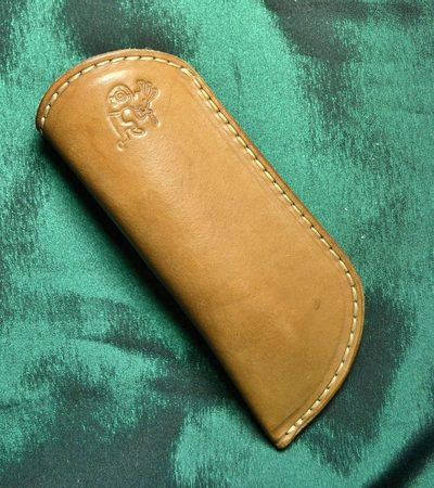 LEATHER GLASSES CASE, brown